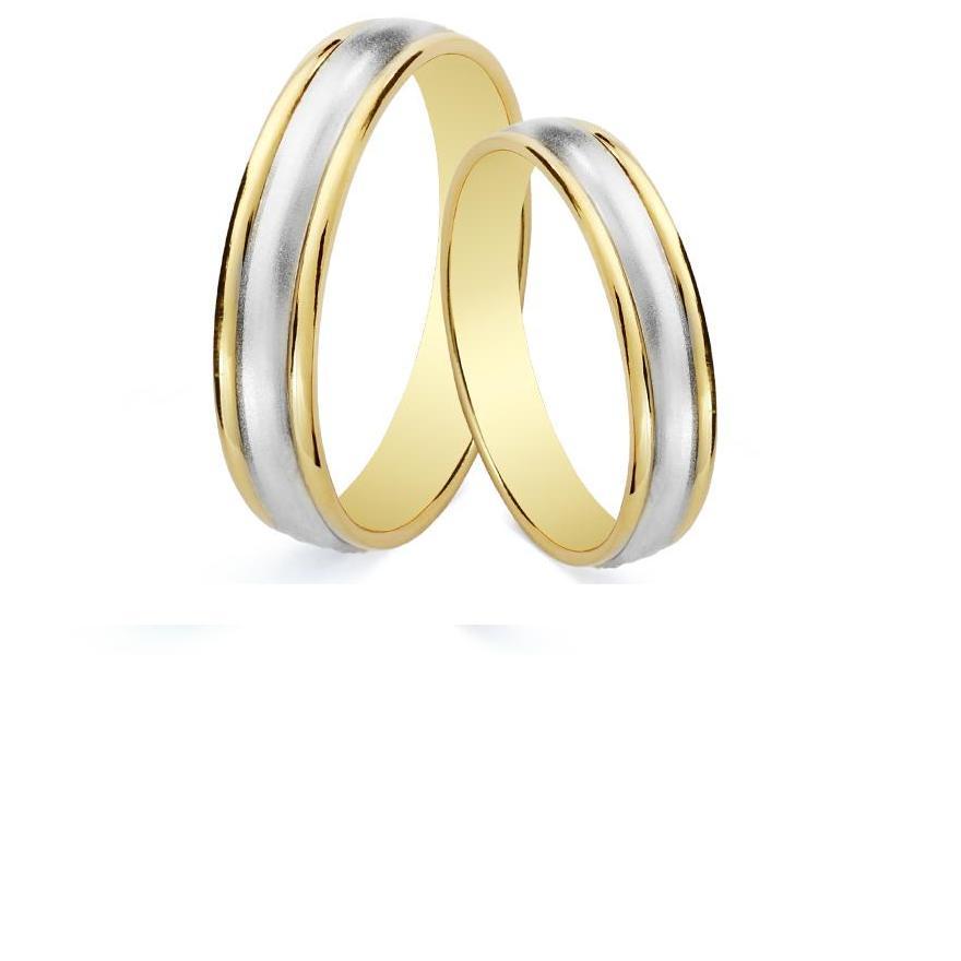 Alianzas de Oro Bicolor | Alianzas de oro amarillo y blanco