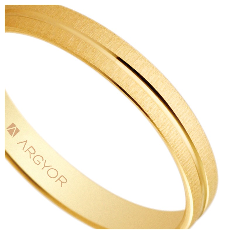 Alianzas de Oro Amarillo 18k Argyor