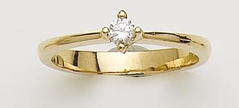 Anillos de Compromiso en Diamantes y Oro Amarillo
