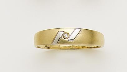 Anillos de Compromiso en Diamantes y Oro Bicolor