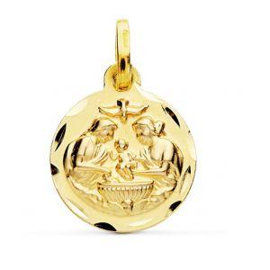 Medalla Bebé Oro 14mm.