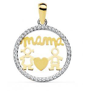 Colgante Oro Mamá 16 mm.