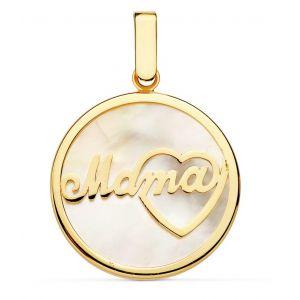 Colgante Oro Mamá 20 mm.