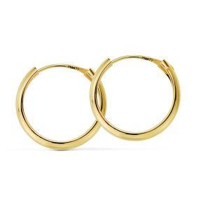 Pendientes Oro Aro 14 x 2 mm.