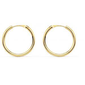 Pendientes Oro Aro 16 x 1,5 mm.
