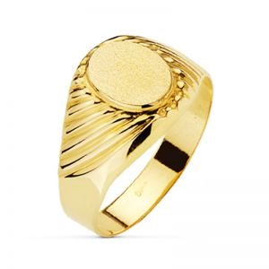 Anillo Oro Sello 10 x 8 mm.