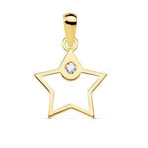 Colgante Oro Estrella 12 mm