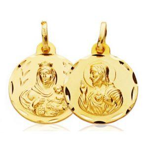 Medalla Escapulario Oro