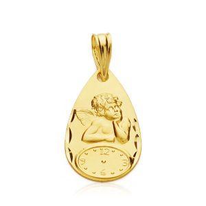 Medalla Bebé Oro 19 x 11 mm.