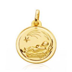 Medalla Bebé Oro 16mm.