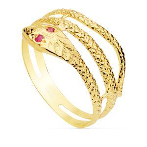 Anillo Oro Serpiente 10 mm.