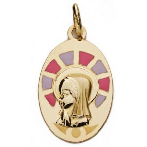Medalla Oro 9 kt. Comunión