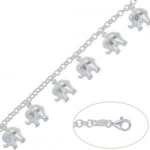 Pulsera Plata Elefantes 16x17mm