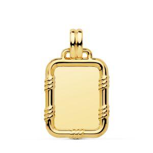 Colgante Placa Oro 26 x 20 mm