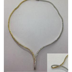 Gargantilla Oro Bicolor 2 x 2.5 mm