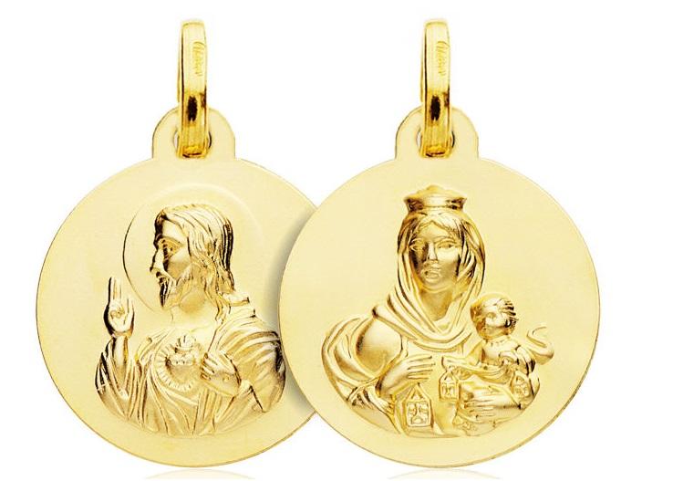 Medalla Oro Escapulario