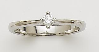 Anillos de compromiso en Diamantes y  Oro Blanco