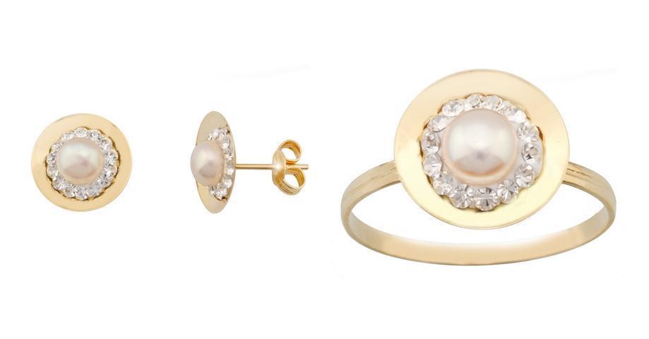 Conjunto de joyas de Oro 9k