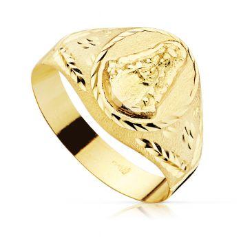 Anillo Oro Sello Virgen del Rocio