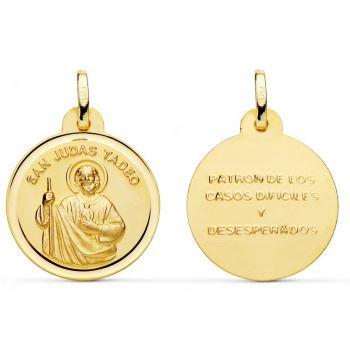 Medalla Oro San Judas Tadeo 20 mm.