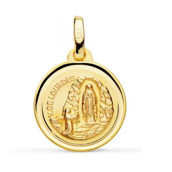 Virgen de Lourdes Oro 16 mm.