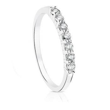 Anillo Oro Diamantes 0'160 Qtes.