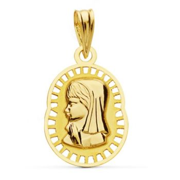 Medalla Oro Comunión 19 x 12 mm.