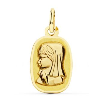 Medalla Oro Comunión 17 x 10 mm.