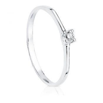 Anillo Oro Diamantes 0'100 Qtes.