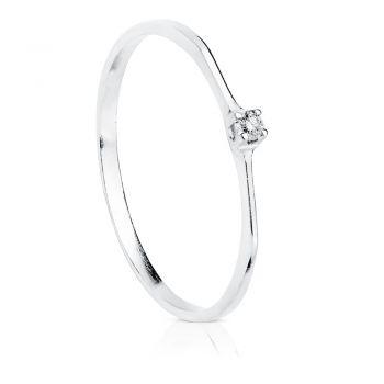 Anillo Oro Diamante 0'03 Qtes