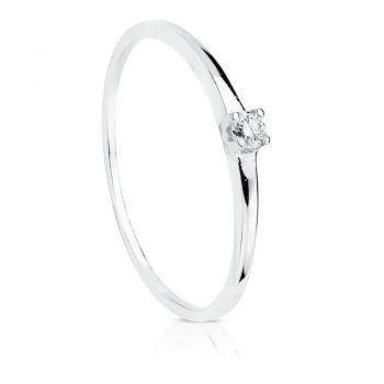 Anillo Oro Diamantes 0'055 Qtes.