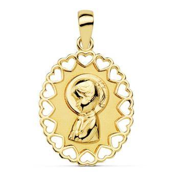 Medalla Oro Comunión 15 x 12 mm.