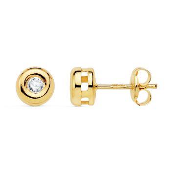 Pendientes Oro y Diamantes 5,5 mm.