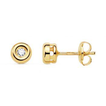 Pendientes Oro y Diamantes 4,75 mm.