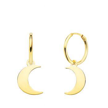Pendientes Oro Aro con Luna