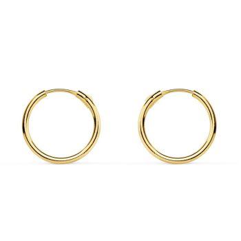 Pendientes Oro Aro 12 x 1,2 mm.