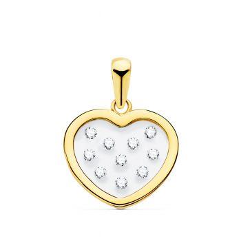 Colgante Oro Corazón 14 x 12 mm.