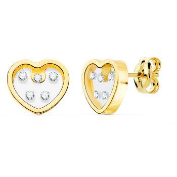 Pendientes Oro Corazón 8 x 7 mm.