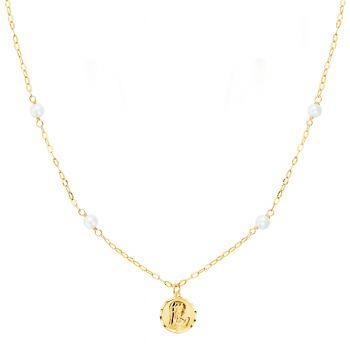 Gargantilla Oro Perla y Medalla