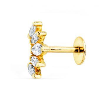 Piercing Oreja Oro 9 x 6 mm