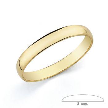 Alianza Oro 9 kt. 3 mm.
