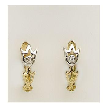 Pendientes Oro Diamantes