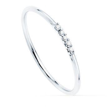 Anillo Oro Blanco Diamantes