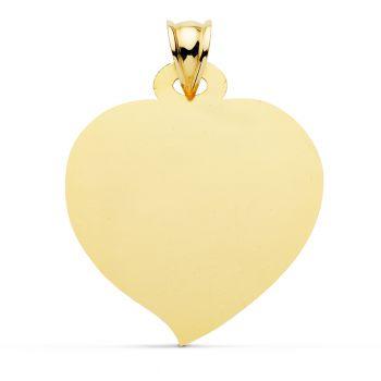 Colgante Oro Placa Corazón