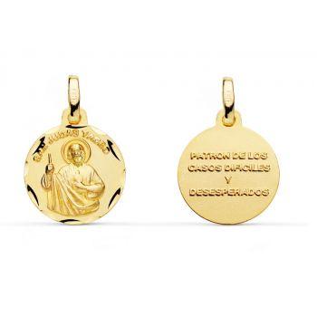 Medalla Oro San Judas Tadeo 14 mm.