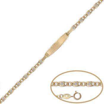 Pulsera Bebé Oro 12cm.