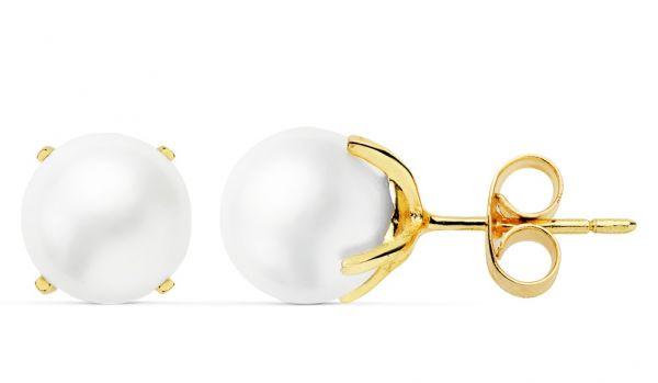 86fa62dabae4 Pendientes Oro Perlas Cultivadas 7
