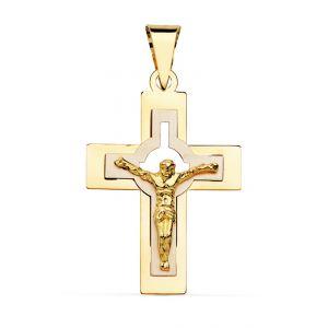 Cruz Oro Bicolor 27 x 18 mm.