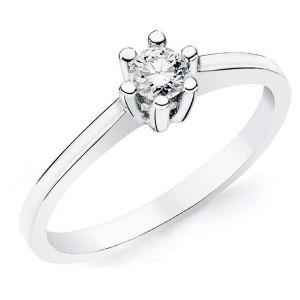 Anillo Oro Blanco Diamante