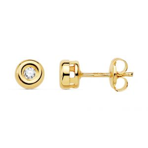 Pendientes Oro y Diamantes 4,75 mm.